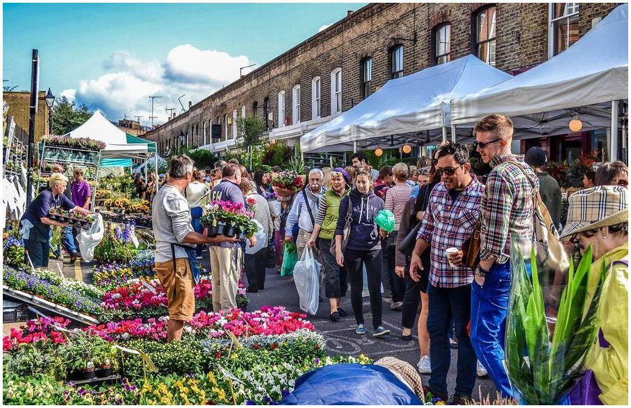 marché aux fleurs de Columbia Road