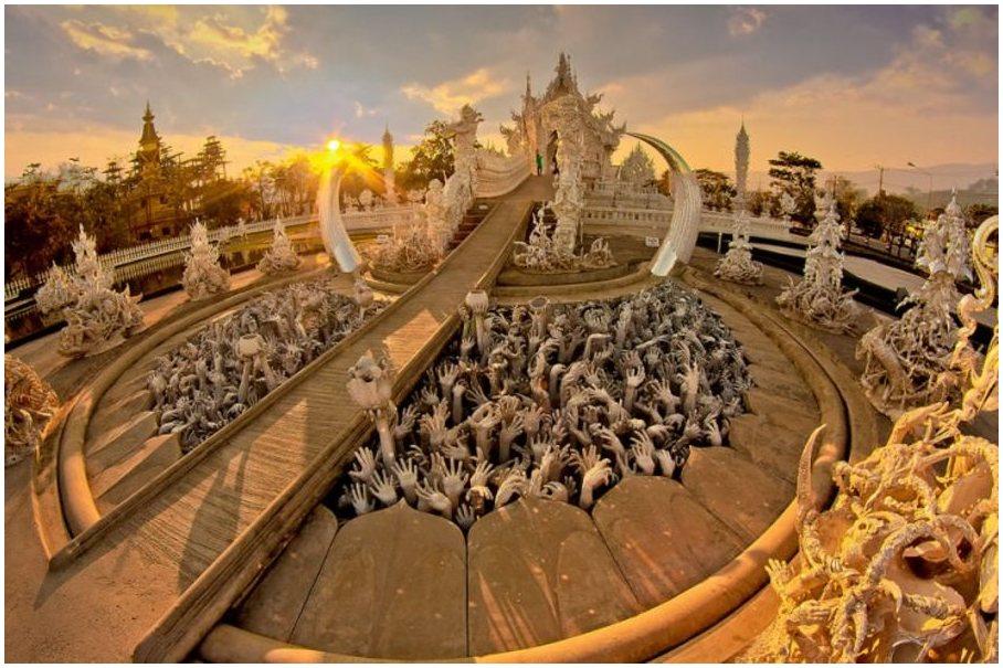temple Wat Rong Khun, Chiang Rai, Thaïlande