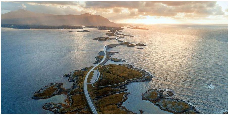 l'Atlanterhavsveien-Norvège