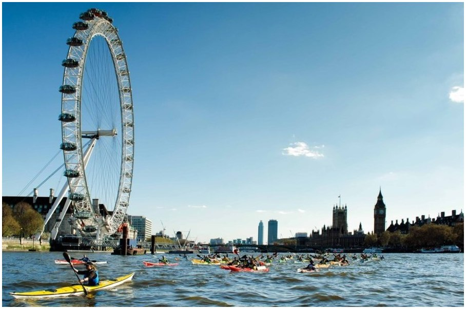 Top des choses insolites et fun à faire à Londres kayak